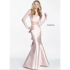 Sherri Hill 51169 Blush 2 Piece Dress, size 2